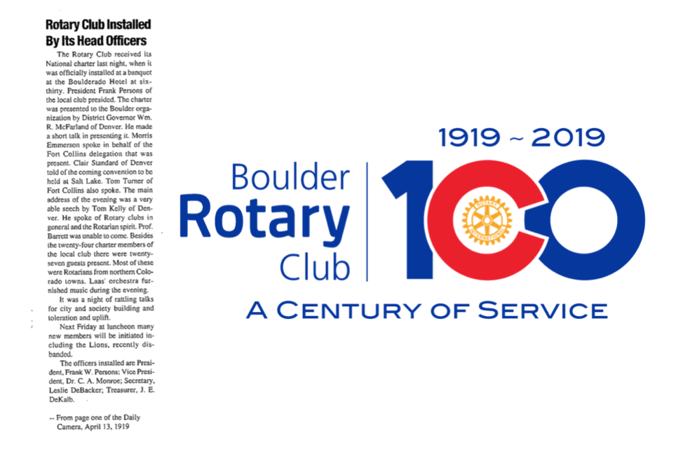 BRC100 Rotary Club Installed By Its Head Officers